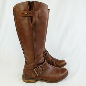 Timberland Savin Hill Tall Riding Boots In Cognac